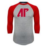 Grey/Red Raglan Baseball T-Shirt-AP