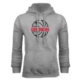 Grey Fleece Hood-Basketball Design