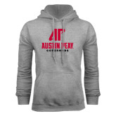 Grey Fleece Hood-AP Austin Peay Governors - Official Athletic Logo