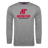 Grey Fleece Crew-AP Austin Peay Governors - Official Athletic Logo