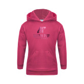 Youth Raspberry Fleece Hood-AP Austin Peay Governors - Official Athletic Logo