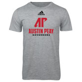 Adidas Sport Grey Logo T Shirt-AP Austin Peay Governors - Official Athletic Logo