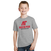 Youth Grey T-Shirt-AP Austin Peay Governors - Official Athletic Logo