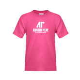 Youth Fuchsia T Shirt-AP Austin Peay Governors - Official Athletic Logo