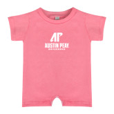Bubble Gum Pink Infant Romper-AP Austin Peay Governors - Official Athletic Logo