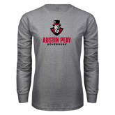 Grey Long Sleeve T Shirt-Governor Austin Peay Governors