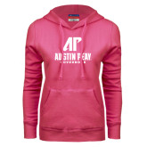 Fuchsia Fleece Hood-AP Austin Peay Governors - Official Athletic Logo