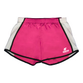 Ladies Fuchsia/White Team Short-AP Austin Peay Governors - Official Athletic Logo