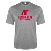 Performance Grey Heather Contender Tee-AP Austin Peay Governors - Official Athletic Logo