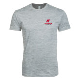 Next Level SoftStyle Heather Grey T Shirt-AP Austin Peay Governors - Official Athletic Logo