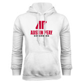 White Fleece Hood-AP Austin Peay Governors - Official Athletic Logo