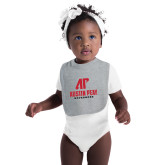 Grey Baby Bib-AP Austin Peay Governors - Official Athletic Logo