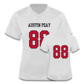 Ladies White Replica Football Jersey-#88
