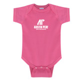 Fuchsia Infant Onesie-AP Austin Peay Governors - Official Athletic Logo