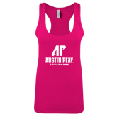 Next Level Ladies Raspberry Ideal Racerback Tank-AP Austin Peay Governors - Official Athletic Logo