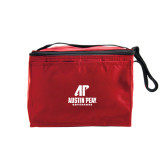 Six Pack Red Cooler-AP Austin Peay Governors - Official Athletic Logo