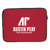 15 inch Neoprene Laptop Sleeve-AP Austin Peay Governors - Official Athletic Logo