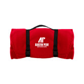 Red Arctic Fleece Blanket-AP Austin Peay Governors - Official Athletic Logo