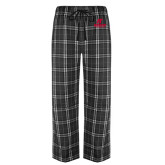 Black/Grey Flannel Pajama Pant-AP Austin Peay Governors - Official Athletic Logo
