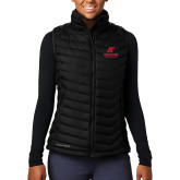 Columbia Mighty LITE Ladies Black Vest-AP Austin Peay Governors - Official Athletic Logo