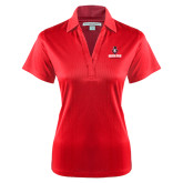 Ladies Red Performance Fine Jacquard Polo-Governor Austin Peay Governors