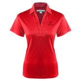 Ladies Red Performance Fine Jacquard Polo-AP Austin Peay Governors - Official Athletic Logo