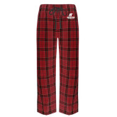 Red/Black Flannel Pajama Pant-AP Austin Peay Governors - Official Athletic Logo