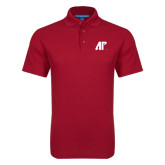 Red Dry Zone Grid Polo-AP