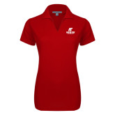 Ladies Red Dry Zone Grid Polo-AP Austin Peay Governors - Official Athletic Logo