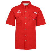 Columbia Bonehead Red Short Sleeve Shirt-AP Austin Peay Governors - Official Athletic Logo