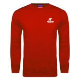 Red Fleece Crew-AP Austin Peay Governors - Official Athletic Logo
