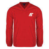 V Neck Red Raglan Windshirt-AP