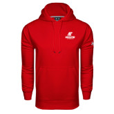 Under Armour Red Performance Sweats Team Hood-AP Austin Peay Governors - Official Athletic Logo
