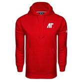 Under Armour Red Performance Sweats Team Hood-AP