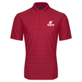 Red Horizontal Textured Polo-AP Austin Peay Governors - Official Athletic Logo