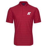 Red Horizontal Textured Polo-AP