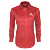 Ladies Red House Red Long Sleeve Shirt-AP Austin Peay Governors - Official Athletic Logo