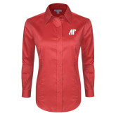 Ladies Red House Red Long Sleeve Shirt-AP