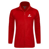 Ladies Fleece Full Zip Red Jacket-AP Austin Peay Governors - Official Athletic Logo