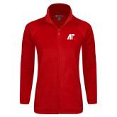 Ladies Fleece Full Zip Red Jacket-AP