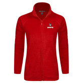 Ladies Fleece Full Zip Red Jacket-Governor Austin Peay Governors