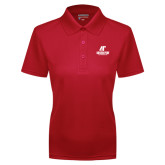 Ladies Red Dry Mesh Polo-AP Austin Peay Governors - Official Athletic Logo
