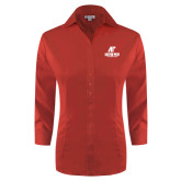 Ladies Red House Red 3/4 Sleeve Shirt-AP Austin Peay Governors - Official Athletic Logo