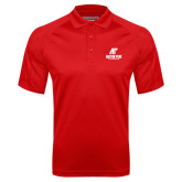 Red Textured Saddle Shoulder Polo-AP Austin Peay Governors - Official Athletic Logo