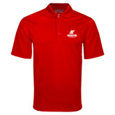Red Mini Stripe Polo-AP Austin Peay Governors - Official Athletic Logo