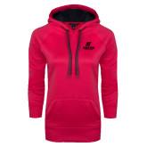 Ladies Pink Raspberry Tech Fleece Hooded Sweatshirt-AP Austin Peay Governors - Official Athletic Logo