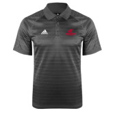Adidas Climalite Charcoal Jaquard Select Polo-AP Austin Peay Governors - Official Athletic Logo