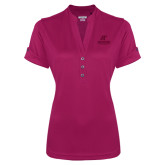 Ladies Ogio Deep Berry Fashion Henley-AP Austin Peay Governors - Official Athletic Logo