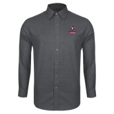 Red House Dark Charcoal Diamond Dobby Long Sleeve Shirt-Governor Austin Peay Governors