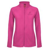 Ladies Fleece Full Zip Raspberry Jacket-AP Austin Peay Governors - Official Athletic Logo